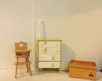 Dollhouse Miniature Baby Nursery Furniture Lot