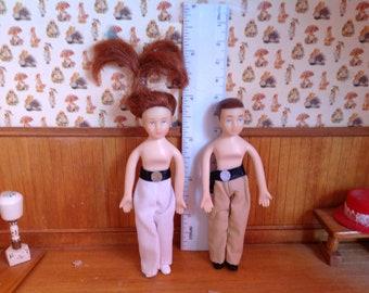 Vintage Miniature Dollhouse Dolls