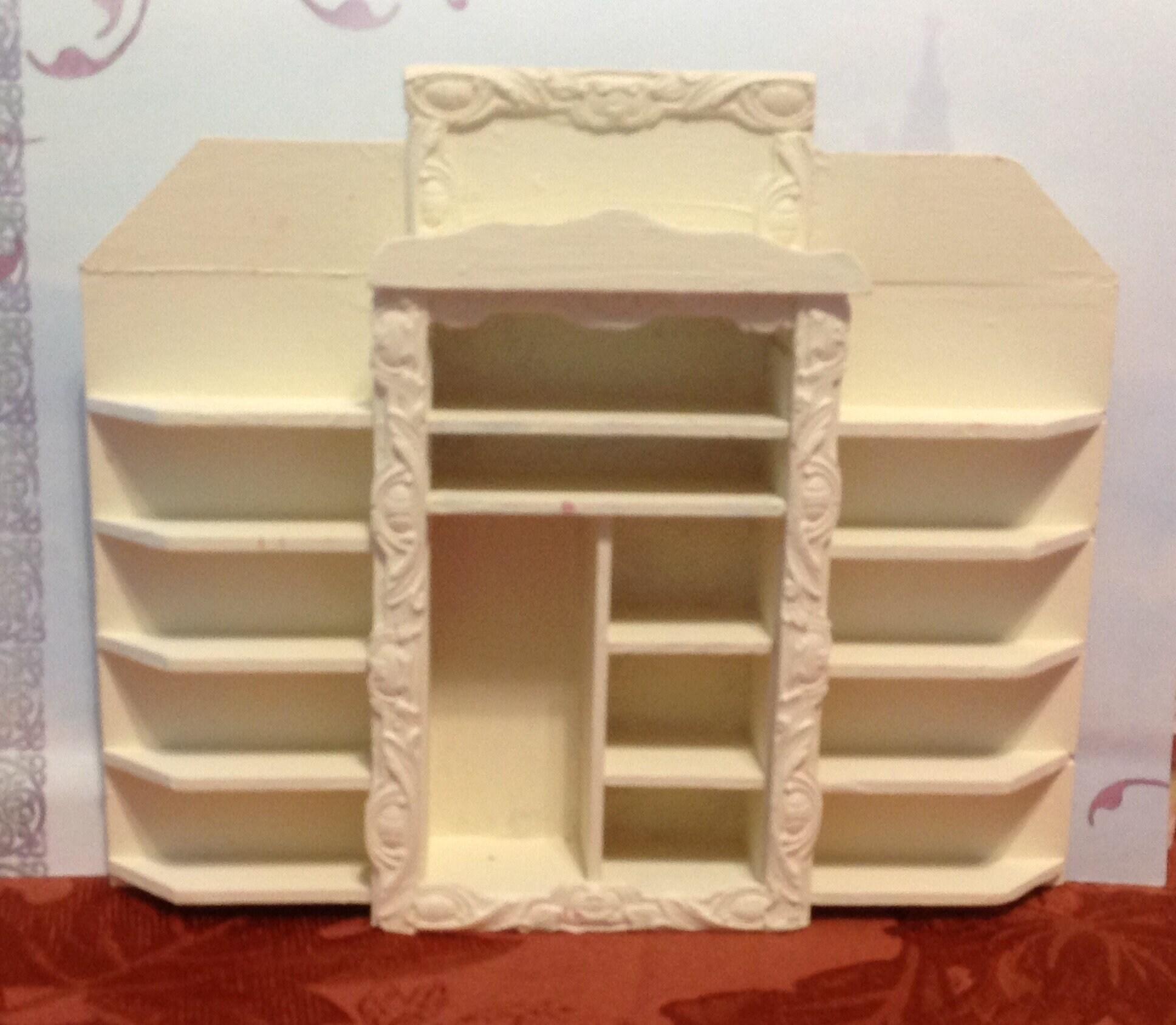Handmade Altered Dollhouse Miniature Furniture Book Shelf