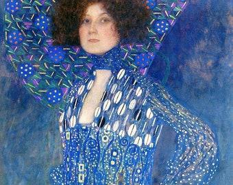 Custom Order for Dina - Portrait of Emilie Floge - Cross stitch pattern pdf format