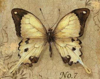 Yellow Butterfly - Cross stitch pattern pdf format