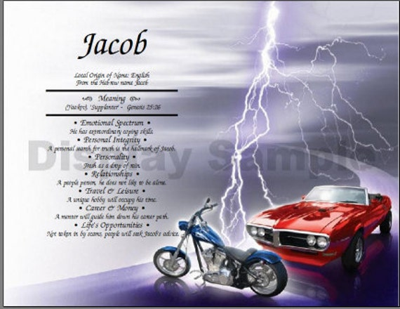 Harly Bike And Muscle Car Name Meaning Etsy