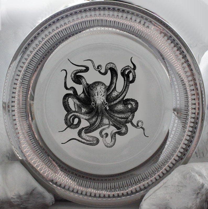 Silver Octopus Plates Various RESERVED for Stacee/'s Registry