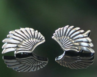 Wing Earrings, Sterling Silver, Wing Studs, Earrings, Earrings, BFF Gift, BeadXS, Silver Angel Wings, Wings, For Her