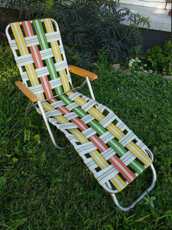 Phenomenal Vintage Kid Child Size Aluminum Folding Beach Lounge Chair Chaise Retro Webbing Webbed Patio Inzonedesignstudio Interior Chair Design Inzonedesignstudiocom