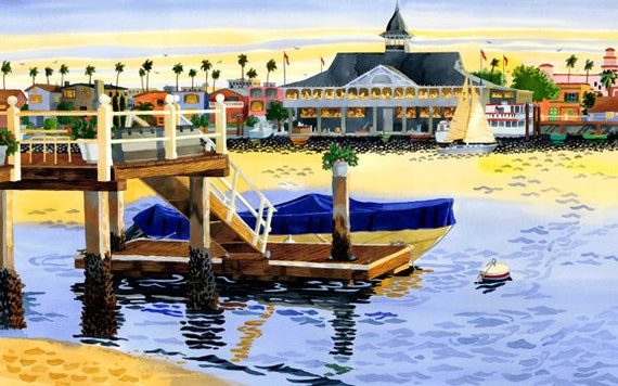 Newport Harbor, Newport Pavillion, Newport Beach California, Pavillion, Sailboats,