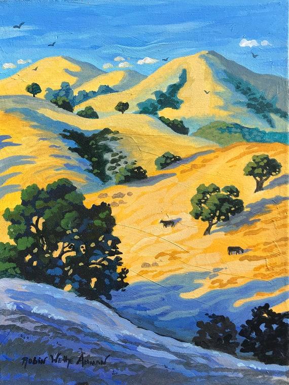 California Hills, South San Francisco Hills, Golden Hills of California, Central California hills, Rolling Hills, Hills with Oak trees