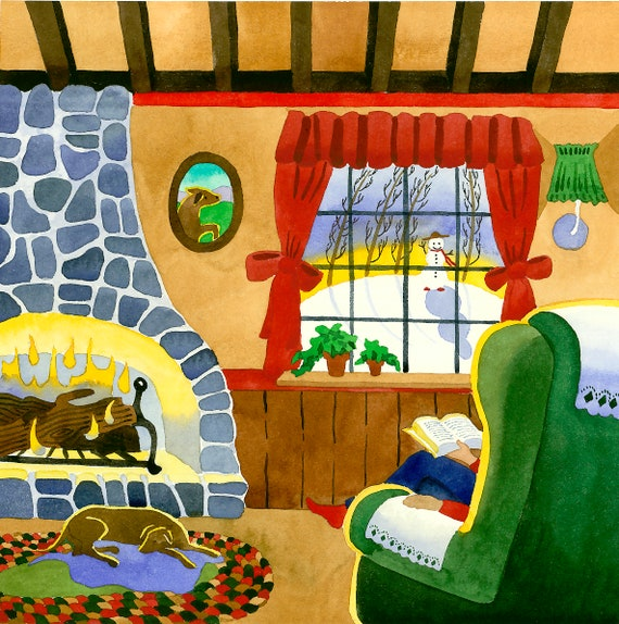 Cozy Winter Day, Dog by the fire, sitting by the fire, person with dog, winter day, home on a winter day, dog by fireplace, winter fireplace