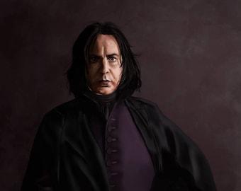Harry Potter Alan Rickman Severus Snape Art Print