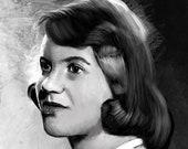 Sylvia Plath Portrait Art Print