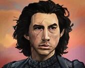Kylo Ren Star Wars Art Print Adam Driver
