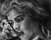 A Nightmare on Elm Street Art Print Freddy phone Heather Langenkamp
