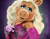 Miss Piggy Portrait Print The Muppets
