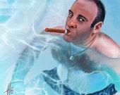 Tony Soprano James Gandolfini Art Print