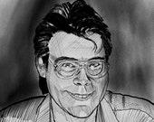 Stephen King Portrait Art Print