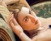 Kate Winslet Rose Titanic Art Print