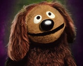 Rowlf The Dog Portrait Print The Muppets