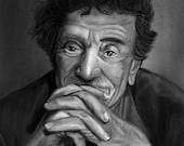 Kurt Vonnegut Jr Portrait Art Print