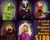 The Muppets 11x14 Inch Bundle