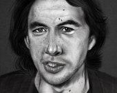Adam Driver portrait Art Print