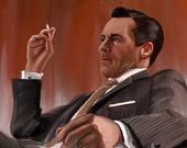 Mad Men Don Draper Art Print