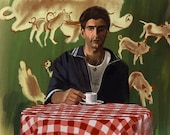 Sopranos Michael Imperioli Christopher Moltisanti Art Print