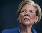 Elizabeth Warren Portrait Print