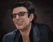 Jeff Goldblum Jurassic Park Dr. Ian Malcolm Art Print
