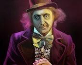 Willy Wonka Gene Wilder Art Print