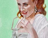 Evan Rachel Wood Queen Sophie Anne True Blood portrait print