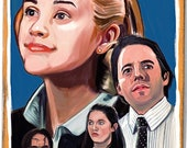 Election movie poster art print Matthew Broderick Reese Witherspoon