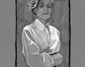 Tatiana Maslany portrait Print