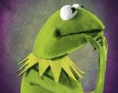 Kermit T Frog Portrait Print The Muppets