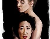 Killing Eve Art Print Jodie Comer Sandra Oh