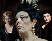 The Favourite art print Emma Stone Rachel Weisz Olivia Colman