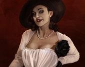 Resident Evil: The Village Lady Dimitrescu  art print
