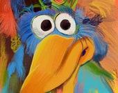 Fletcher Bird Portrait Print The Muppets