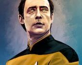 Star Trek: The Next Generation Data Print