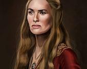 Game of Thrones Cersei Lannister Art Print