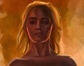 NSFW Daenerys Targaryen Game of Thrones Art Print