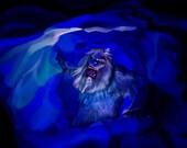 Disneyland Abominable Snowman Matterhorn Bobsleds Art Print