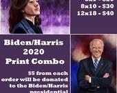 Biden - Harris 2020 Art Print Combo