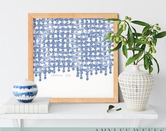 Inspirational Art | Boho Decor | Modern Farmhouse | Watercolor Abstract  | Uncommon Faith by Amylee Weeks | Art Print or Canvas
