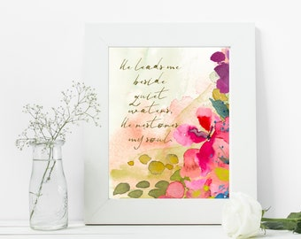 Inspirational Art | Boho Decor | Modern Farmhouse | Watercolor Floral Abstract | Uncommon Faith by Amylee Weeks | Art Print or Canvas