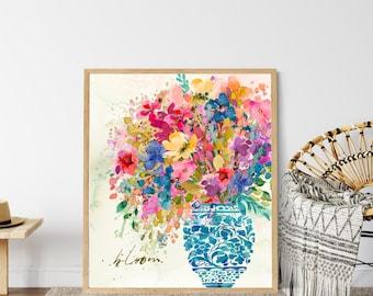 Inspirational Art | Boho Decor | Modern Farmhouse | Watercolor Floral  | Uncommon Faith by Amylee Weeks | Art Print or Canvas