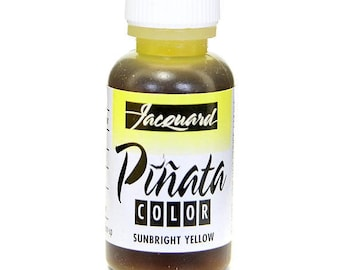 Pinata Color alcohol ink by Jacquard, .5oz bottle, Sunbright yellow