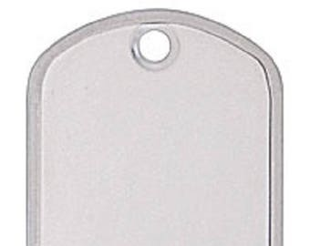 Stainless steel dog tags, set of 12
