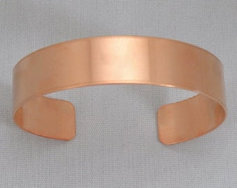 1 14 x5 Easy to hand stamp on- copper strips copper blanks jewelry blanks ROUNDED -22G Copper Bracelet Cuff Blank