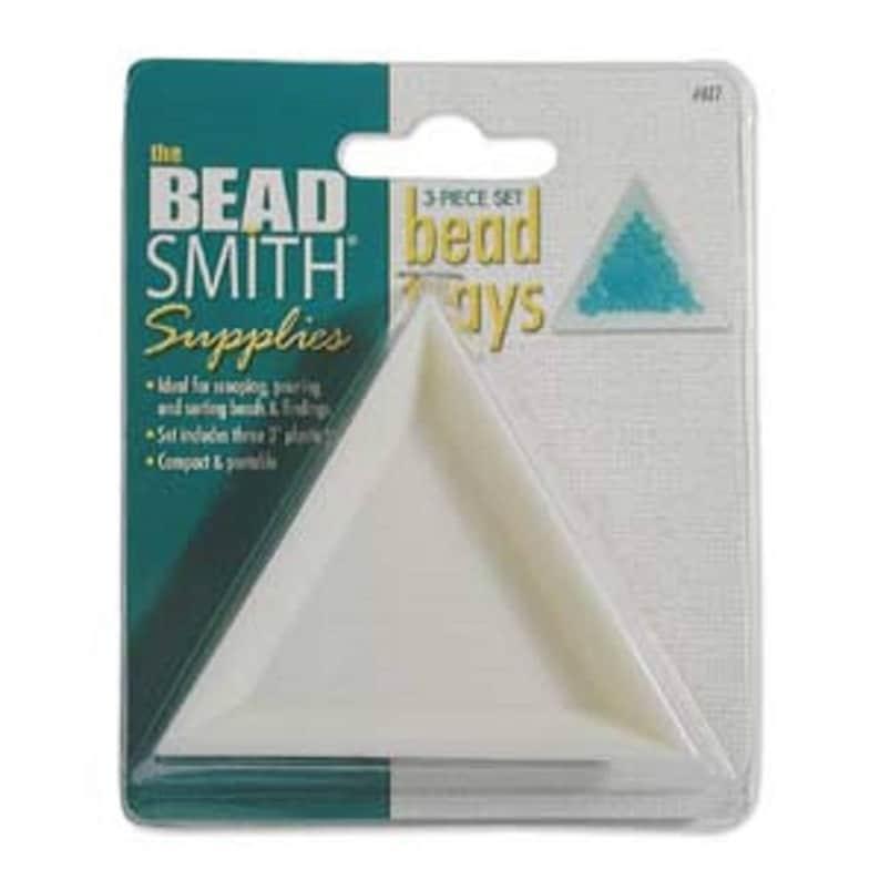 Beadsmith triangle trays set of 3.
