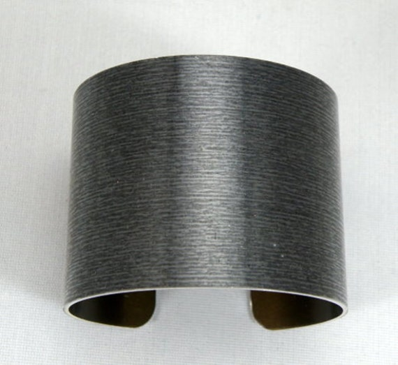 "1 3//4/"" x 6/"" Black Anodized Aluminum Cuff Bracelet Blanks one dozen"